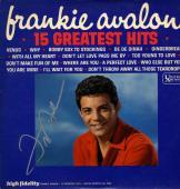 Frankie Avalon Autographed 15 Greatest Hits Album Cover UACC RD COA AFTAL
