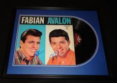 Frankie Avalon & Fabian Dual Signed Framed Vintage Record Album Display