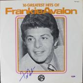 Frankie Avalon Greatest Hits Signed Album Cover W/ Vinyl PSA/DNA #V16043