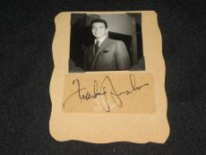 "FRANKIE AVALON LEGEND STAR SIGNED AUTOGRAPHED 3.5""x5"" PAPER WITH PHOTOGRAPH JSA"