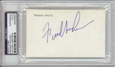 Frankie Avalon Signed 3x5 Index Card (PSA/DNA)