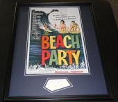 Frankie Avalon Signed Framed 16x20 Photo Display Beach Party