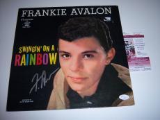 Frankie Avalon Swingin On A Rainbow Jsa/coa Signed Lp Record Album