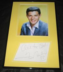 Frankie Avalon Signed Framed 11x17 Photo Display JSA