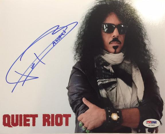 FRANKIE BANALI Hand Signed Quiet Riot Drummer 8x10 Photo PSA/DNA COA C