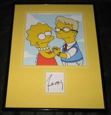Frankie Muniz The Simpsons Signed Framed 11x14 Photo Display