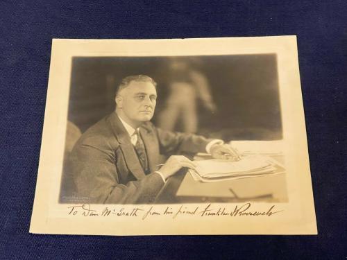 Franklin D. Roosevelt FDR Signed As President Autograph Harris Ewing Photo JSA
