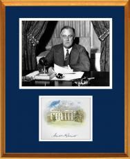 Franklin D. Roosevelt FDR Signed Autograph Display - JSA
