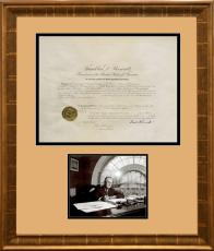 Franklin D. Roosevelt Signed 1937 Presidential U.S. Marshal Appointment
