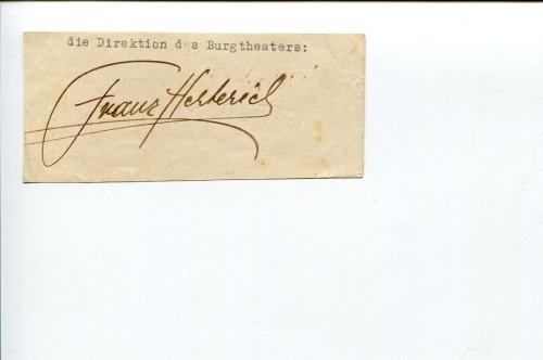 Franz Herterich 1920s And 1930s German Actor Director Signed Autograph