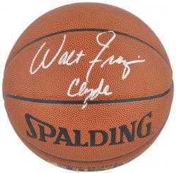 "Walt Frazier New York Knicks Autographed Basketball with ""Clyde"" Inscription - Mounted Memories"