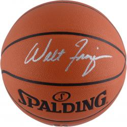 Walt Frazier New York Knicks Autographed Spalding Indoor Outdoor Basketball - Mounted Memories