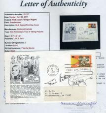 Fred Astaire Ginger Rogers Jsa Coa Hand Signed Fdc Authenticated Autograph