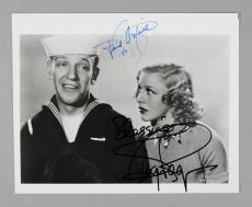 Fred Astaire & Ginger Rogers Signed 8×10 BW Photo – COA JSA