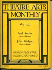 Fred Astaire John Gielgud Maurice Evans May 1937 Theatre Arts Monthly Magazine