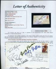 Fred Astaire Ray Bolger Burns Griffith Walston Signed Jsa Fdc Autograph
