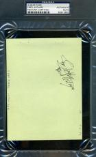 Fred Astaire Signed Album Page Psa/dna Coa Authentic Autograph