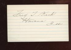 Fred Beck T206 Card Set Baseball Player Autographed Index Card Hologram
