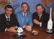 FRED HAISE HAND SIGNED 8x11 COLOR PHOTO+COA    NASA APOLLO 13 CREW     TO DAVID