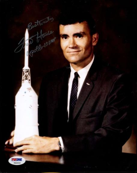 Fred Haise Signed Jsa Certified 8x10 Photo Authenticated Autograph