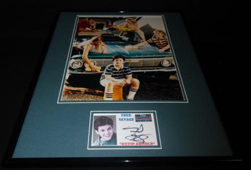 Fred Savage Signed Framed 16x20 Photo Display Wonder Years Kevin Arnold