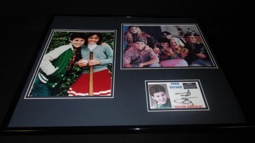 Fred Savage Signed Framed 16x20 Photo Set Wonder Years