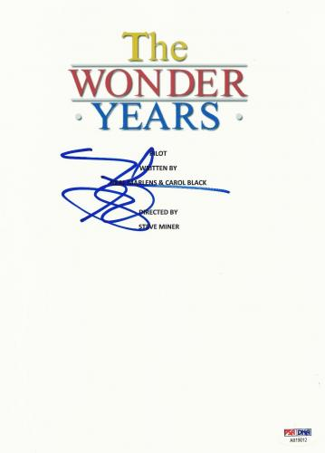 Fred Savage Signed Wonder Years Full Script Screenplay Autograph Psa Dna Psa Coa