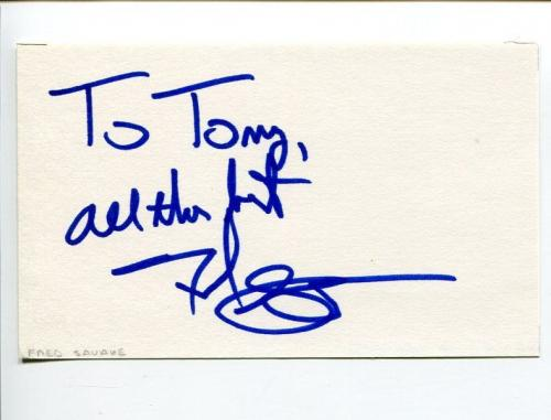 Fred Savage The Wonder Years Seinfeld The Twilight Zone Signed Autograph