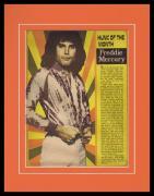 Freddie Mercury 1977 Teen Beat Hunk of the Month Framed 11x14 Photo Display