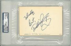 Freddie Prinze Signed Authentic 4x6 Index Card Slabbed (PSA/DNA) #82022567