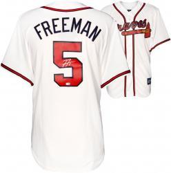 Freddie Freeman Atlanta Braves Autographed Majestic Replica White Jersey