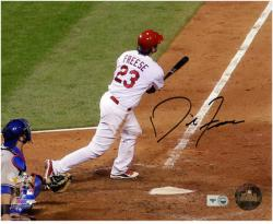 "David Freese St. Louis Cardinals 2011 World Series Autographed 8"" x 10"" Photograph - Mounted Memories"
