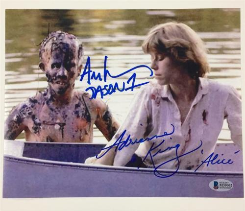 Friday the 13th ADRIENNE KING & ARI LEHMAN signed 8x10 photo ~ Beckett BAS COA