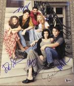 "Friends"" Full Cast Extremely Rare Signed Autograph 11x14 Photo Beckett Bas Coa"