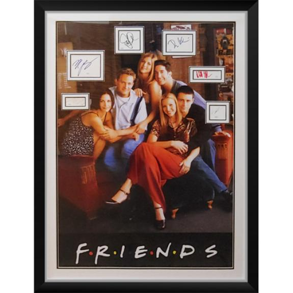 Friends Full-Size TV Poster Deluxe Framed with All Cast Autographs – JSA