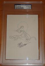 Friz Freleng Pink Panther original art PSA/DNA Bugs Bunny Porky Pig Looney Tunes