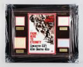 From Here to Eternity – Burt Lancaster, Montgomery Clift, Frank Sinatra, Ernest Borgnine Signed Cut 23×29 Display – JSA Full LOA