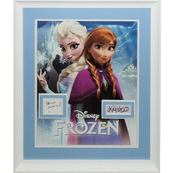 Frozen 16×20 Movie Poster Deluxe Framed with Idina Menzel And Kristen Bell Autographs – JSA