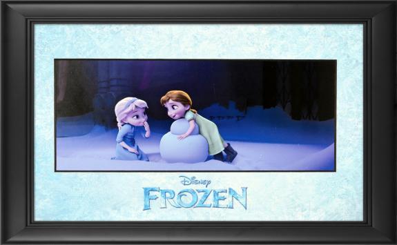 """Frozen Framed """"Magical Snowman"""" 11"""" x 17"""" Matted Photo"""