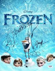 Frozen Gad, Groff, Menzel, Bell Autographed Signed 11x14 Photo Certified PSA/DNA