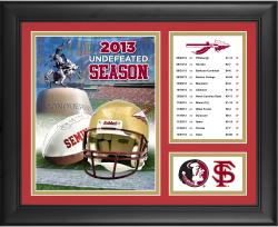 "Florida State Seminoles 2013 Undefeated Season Framed 13"" x 16""  Collage"