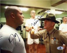 Full Metal Jacket Cast Autographed Signed 8x10 Photo Beckett BAS COA LOA AFTAL