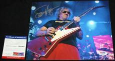 FULL SIG Sammy Hagar signed 8 x 10, Van Halen, Chicken Foot, Montrose, PSA/DNA