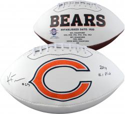 "Kyle Fuller Autographed Chicago Bears Football with ""2014 #1 Pick"" Inscription"