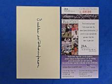 FULLER THOMPSON SIGNED 3x5 INDEX CARD - JSA L69699 - 1911 BOSTON RUSTLERS D 1972