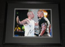 Furious 7 Dwayne Johnson & Vin Diesel Dual Signed Framed 11x14 Photo Poster AW