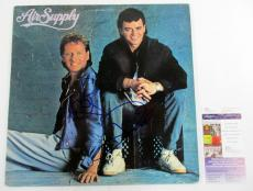 G. Russell & R. Hitchcock Signed Album Air Supply Eponymous w/ 2 JSA AUTOS