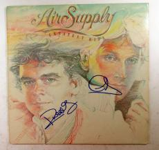 G. Russell & R. Hitchcock Signed Album Air Supply Greatest Hits w/ 2 AUTOS