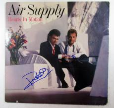 G. Russell & R. Hitchcock Signed Album Air Supply Hearts in Motion w/ 2 AUTOS