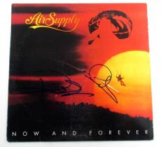 G. Russell & R. Hitchcock Signed Album Air Supply Now And Forever 2 AUTOS